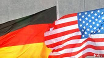 Flaggen Deutschland und USA