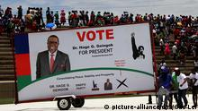 (141122) -- WINDHOEK, Nov. 22, 2014 () -- Namibia's ruling Swapo Party holds a rally at Sam Nujoma Stadium in Windhoek, capital of Namibia, on Nov. 22, 2014. Nine presidential candidates and 16 parties will compete in Namibia's fifth Presidential and National Assembly elections since its independence. Over 1.2 million registered Namibian voters will go to the polls on Nov. 28 to decide on their next president and seats in the National Assembly. (/Gao Lei)