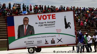 Namibia Wahlen Ministerpräsident Hage Geingob Wahlkampf in Windhoek