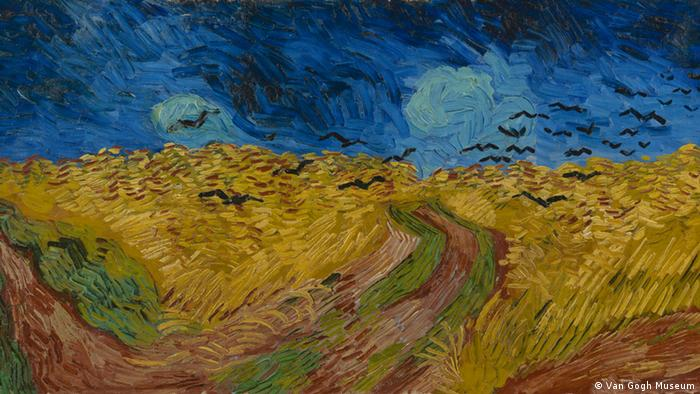 Bilder Van Gogh - Ausschnitt Wheatfield with Crows, 1890