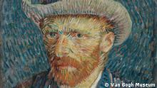 Bilder Van Gogh - Ausschnitt Self-Portrait ith Grey Felt Hat, 1887
