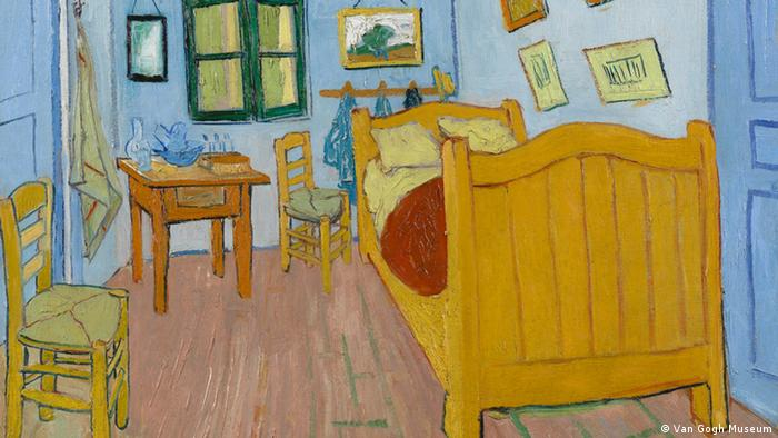 Bilder Van Gogh - Ausschnitt The Bedroom, 1888