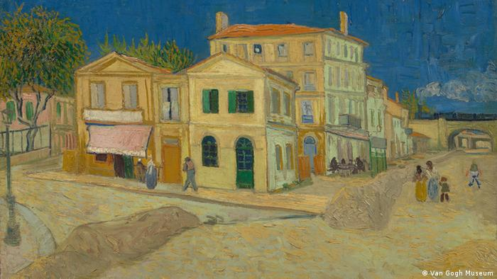 "Bilder Van Gogh - Ausschnitt The Yellow House (""The Street""), 1888"