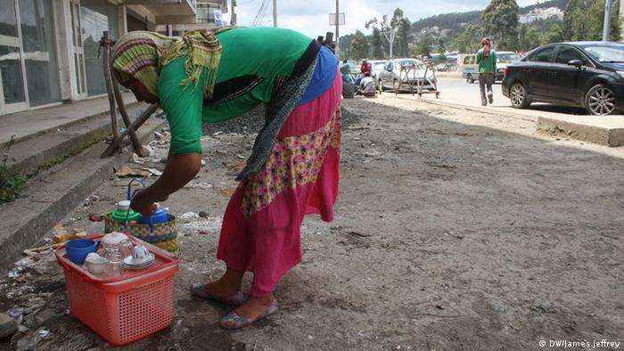 Äthiopien Addis Abeba Kaffee Wirtschaft Aster Endale