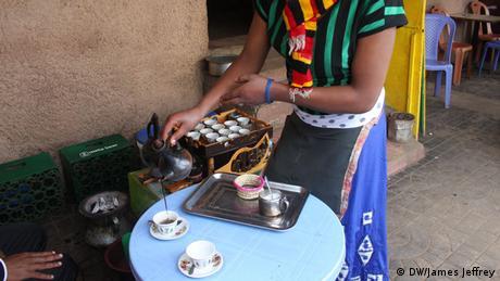 Äthiopien Addis Abeba Kaffee Wirtschaft Roza Melese
