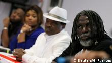 From (R-L) Ivorian reggae singer Tiken Jah Fakoly, Malian singer Mory Kante, Congolese artist Barbara Kanam and singer Kandia Kora attend a news conference to present the Africa Stop Ebola album in Paris, November 24, 2014. Some of Africa's top musicians launched on Monday an Ebola appeal song with proceeds going to fight the virus that has killed more than 5,000 people in West Africa this year. Africa stop Ebola, sung in French and local languages including Malinke, Soussou, Kissi and Lingala, uses a mixture of rap and melodies that are distinctive to West Africa, to urge people to take Ebola seriously and go to a doctor if they are ill. REUTERS/Gonzalo Fuentes (FRANCE - Tags: ENTERTAINMENT HEALTH)