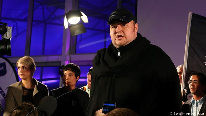 Kim Dotcom bei einer Parteiveranstaltung in Auckland (Photo by Simon Watts/Getty Images)