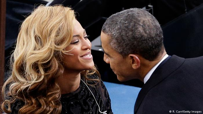 President Barack Obama and singer Beyonce in Washington in January 2013 (R. Carr/Getty Images)