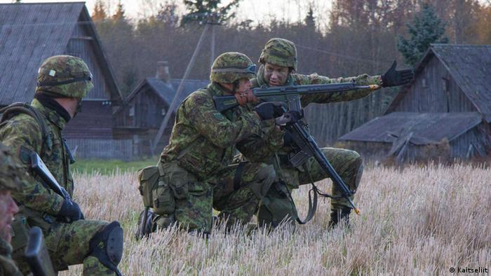 Estonian Defense League volonteers during an exercise