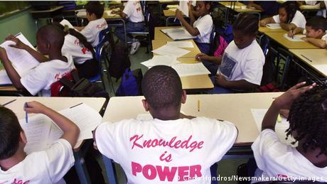 Schwarze Schüler beim Unterricht in den USA