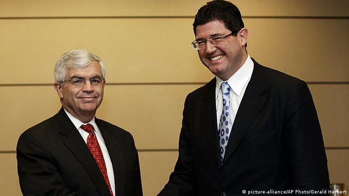 Joaquim Levy rechts Finanzminister Brasilien