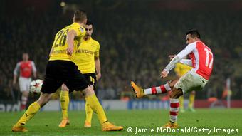 Champions League Arsenal vs Dortmund Alexis Tor Jubel 26.11.2014