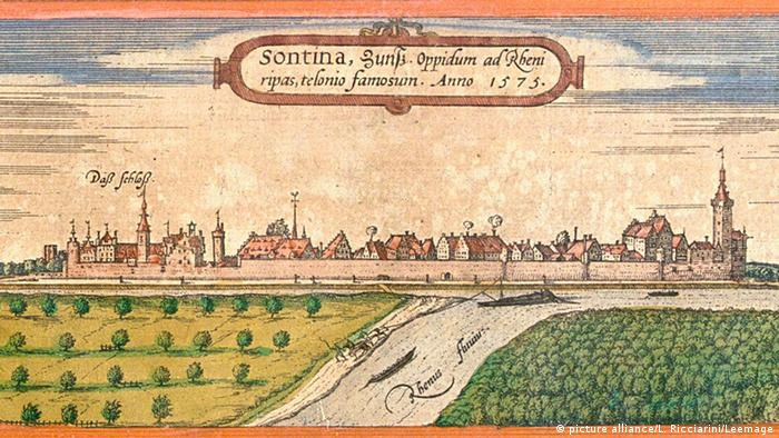 Цонс на рисунке XVI века