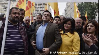 Streikende auf der Straße (Foto: AFP)