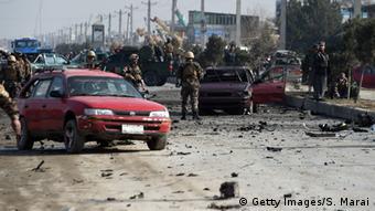 Selbstmordanschlag auf die britische Botschaft in Kabul (Foto: AFP)