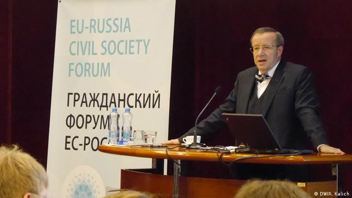 Встречу представителей гражданского общества открыл президент Эстонии Тоомас Хендрик Ильвес.