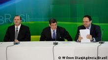 New Economic's staff from Brazilian Government: Alexandre Tombini, Joaquim Levy and Nelson Barbosa.