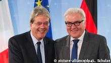 Deutschland Italien Außenminister Paolo Gentiloni bei Frank-Walter Steinmeier in Berlin