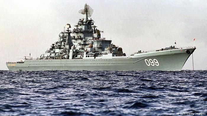Russland Marine Kriegsschiff Peter der Große