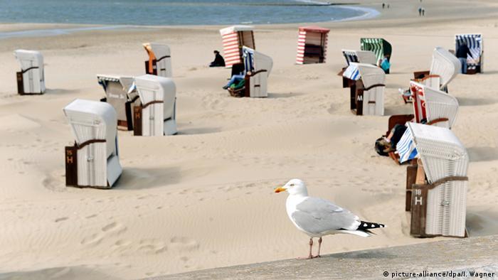 Пляжные корзины на острое Боркум