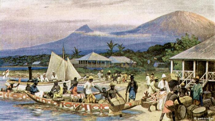 Kamerun iz vremena njemačke kolonijalne vladavine. Slika Rudolfa Hellgrewea