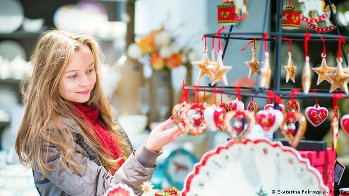 На рождественском рынке