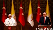 Papst Franziskus bei Erdogan PK 28.11.2014