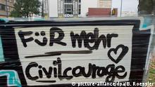 Offenbach Gewalttat & Tod junger Frau - Graffiti 27.11.2014