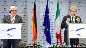 Frank-Walter Steinmeier & Paolo Gentiloni in Rom 28.11.2014