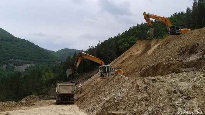 Mazedonien Autobahnbau zwischen Ohrid und Kicevo