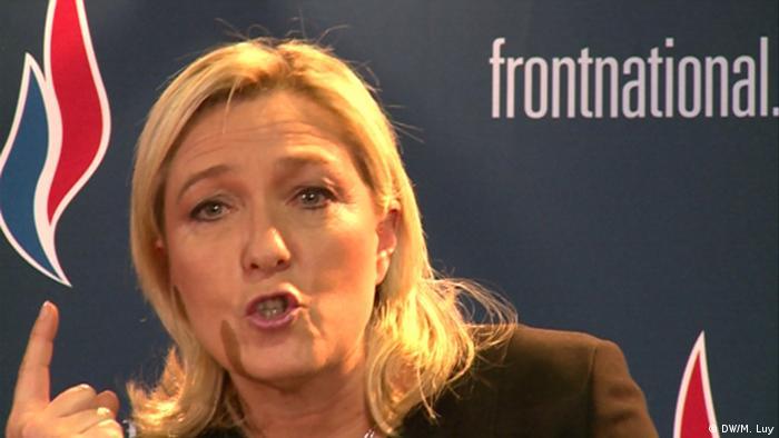 Frankreich Lyon Parteikongress Front National Marine Le Pen