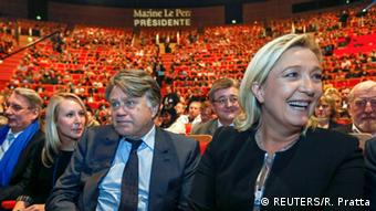 Frankreich Lyon Parteikongress Front National Le Pen, Collard, Marechal-Le Pen
