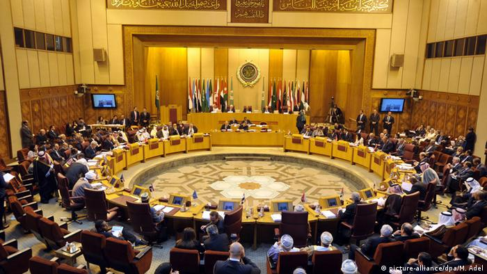 A general view for the Arab League Foreign Ministers emergency meeting at the League's headquarters in Cairo, Egypt, 29 November 2014.