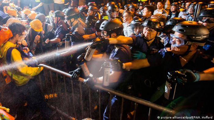 Hongkong Protest und Zusammenstöße 30.11. 2014