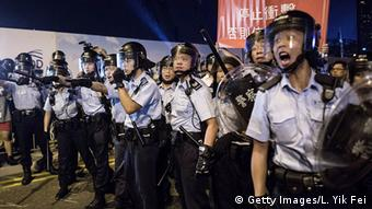 Polizeisperre in Hongkong (Foto: Getty)