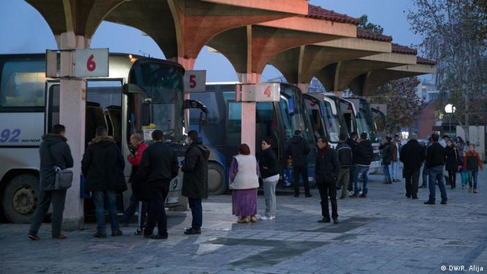 Bus station in Kosovo