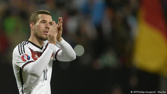 Lukas Podolski 14.11.2014 Nürnberg (AFP/Getty Images/C. Stache)