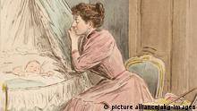 2-M141-M1-1894-1 (1567068) 'La jeune mère' Familie / Mutter und Kind. - 'La jeune mère'. - / (Die junge Mutter). Farbradierung, 1894, von Frédéric Massé nach Zeichnung von Pierre Vidal (1849-1921). Aus: Octave Uzanne, La Femme à Paris, Nos Contemporaines, Paris (Ancienne Maison Quantin) 1894.