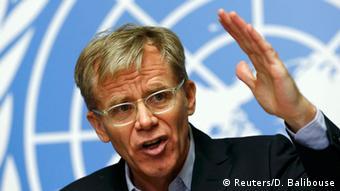 Pressekonferenz WHO Bruce Aylward Ebola 01.12.2014 (Reuters/D. Balibouse)