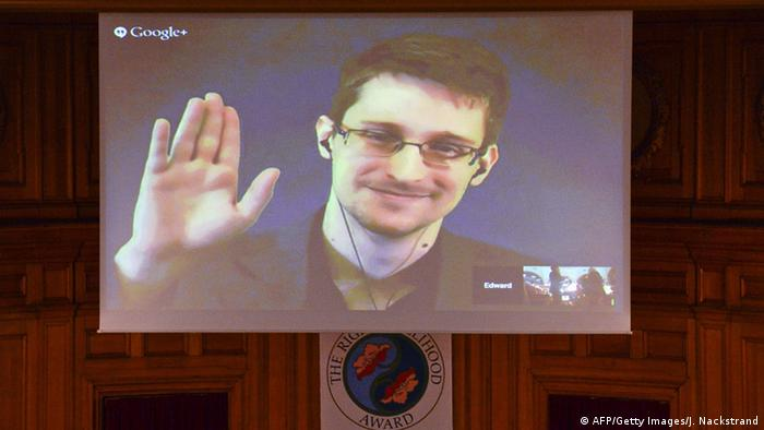 Verleihung des Alternativen Nobelpreises an Edward Snowden