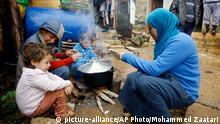 Syrische Flüchtlinge in einem Flüchtlingslager im Libanon