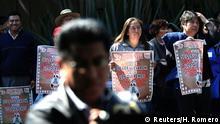 Protest in Mexiko City anlässlich der Ermordung der 43 Studenten