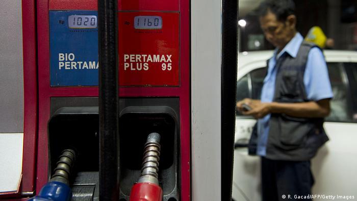Indonesien Benzin Tankstelle von Pertamina in Jakarta