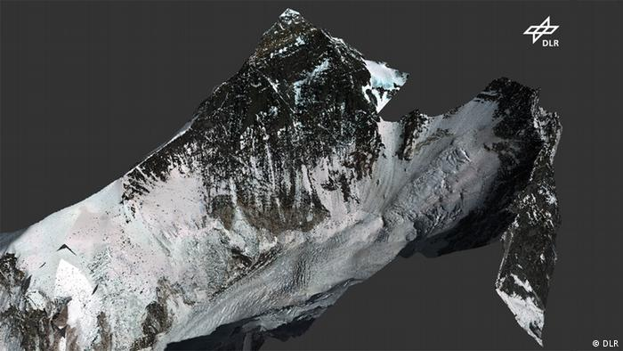 3D-Modell des Mount Everest (Foto: DLR)