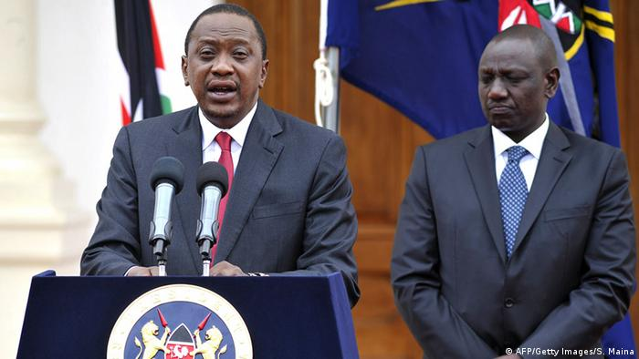 Kenya's President Uhuru Kenyatta (Right) and his deputy William Ruto