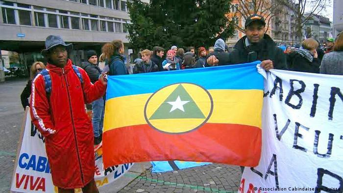 Marcha a favor da independência de Cabinda na Suiça em 2014