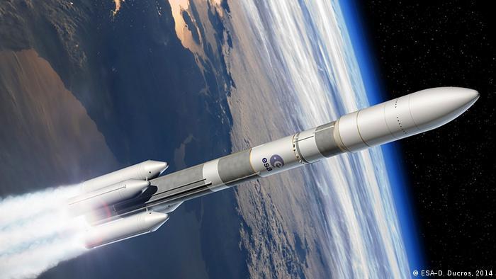 Raumfahrt ESA Entwurf von Ariane 6 Rakete
