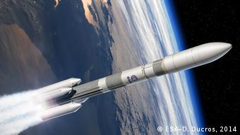 Entwurf von Ariane 6 Rakete (Foto: ESA).