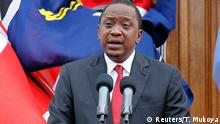 Kenyan President Uhuru Kenyatta addresses a news conference at the State House in Nairobi December 2, 2014. Kenyatta said on Tuesday he had nominated a new interior minister and accepted the resignation of the head of the police, both of whom have been criticised for failing to stop a spate of attacks blamed on Islamist militants. REUTERS/Thomas Mukoya (KENYA - Tags: POLITICS CIVIL UNREST PROFILE)