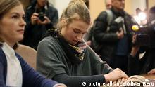 Femen Aktivistin Kölner Dom Deutschland Urteilsverkündung 3.12.2014